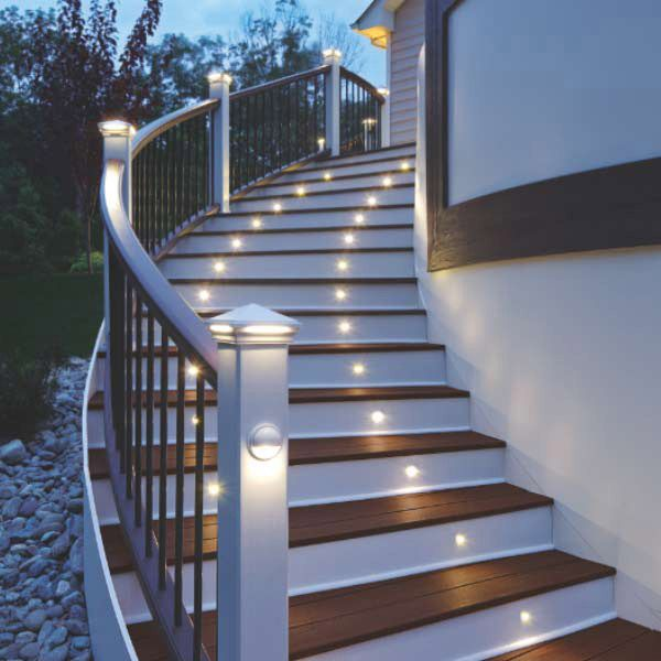 Add ambiance and safety to decks with low-voltage lighting in surprising places.