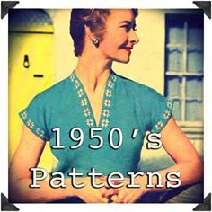 Free vintage patterns and tutorials for crochet, knitting, and sewing from 1800's through 1970's