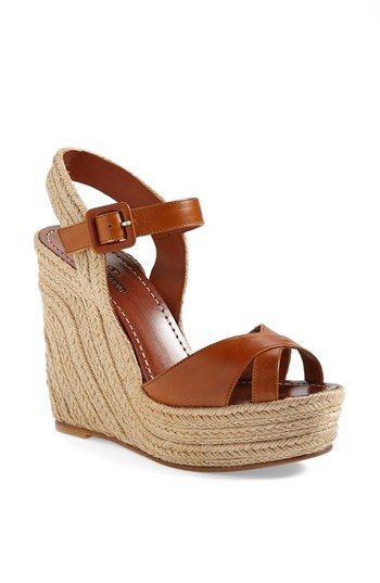 Valentino 'St. Tropez' Espadrille Wedge Sandal- with my clover canyon pants