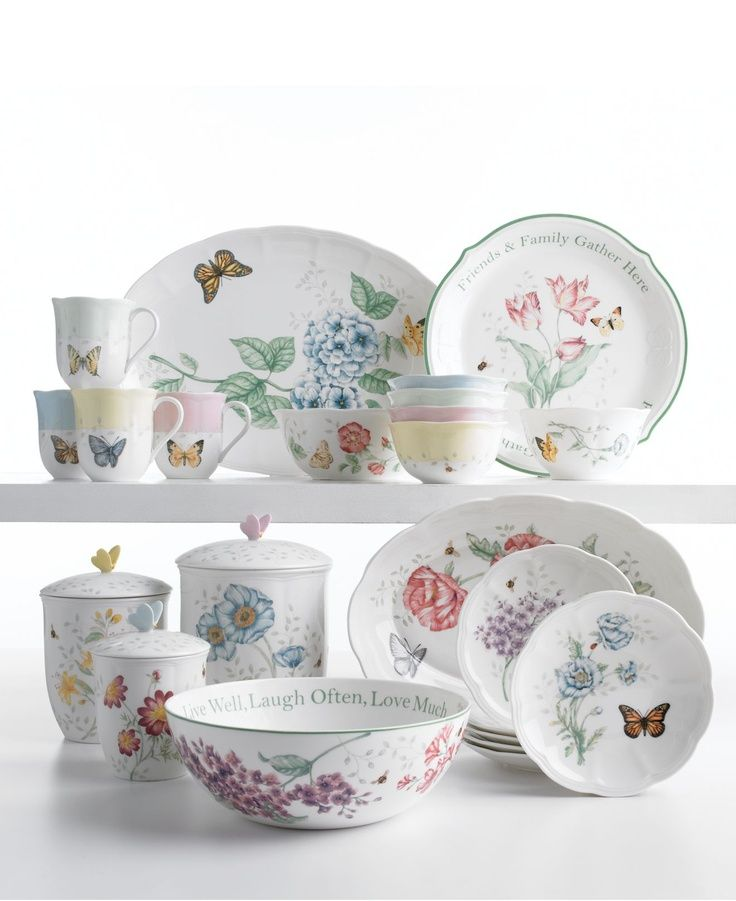 Lenox Butterfly Table Set | Lenox Serveware Butterfly Meadow Collection - Fine China - my  sc 1 st  Pinterest & 52 best Lenox Butterfly Dinnerware images on Pinterest | Dinnerware ...