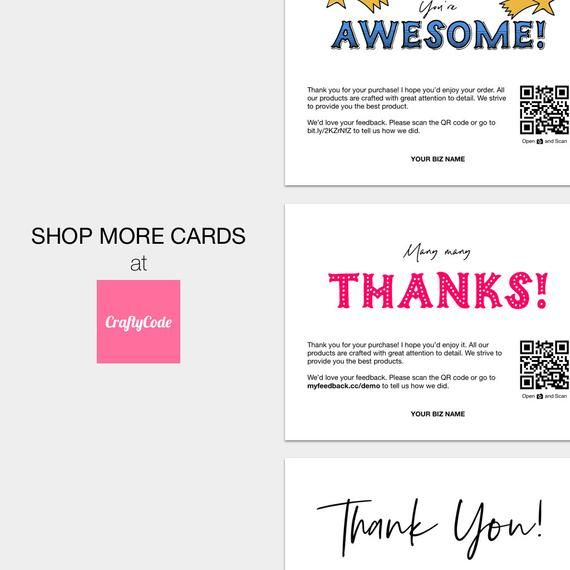 Printable Review Cards Feedback Cards Packaging Inserts For Etsy Sellers Online Sellers Love Your Order Please Leave Us A Review Business Thank You Cards Business Thank You Thank You Printable
