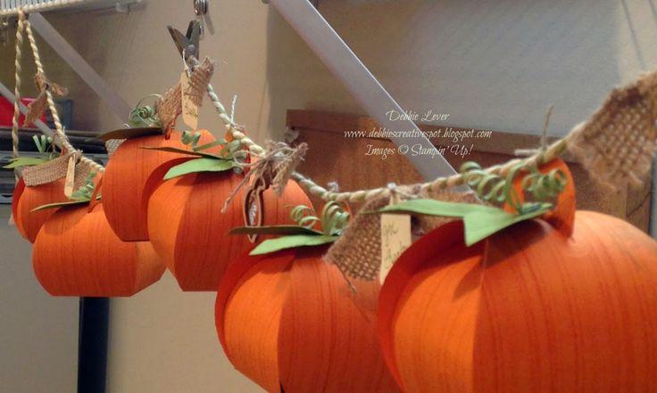 Debbie's Creative Spot: Pumpkin Banner