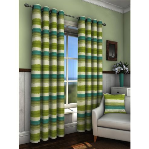Truro Eyelet Curtains 229 x 229cm - Green