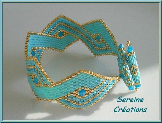 instructions using brick stitch for this pattern Casse Teté de SEREINE