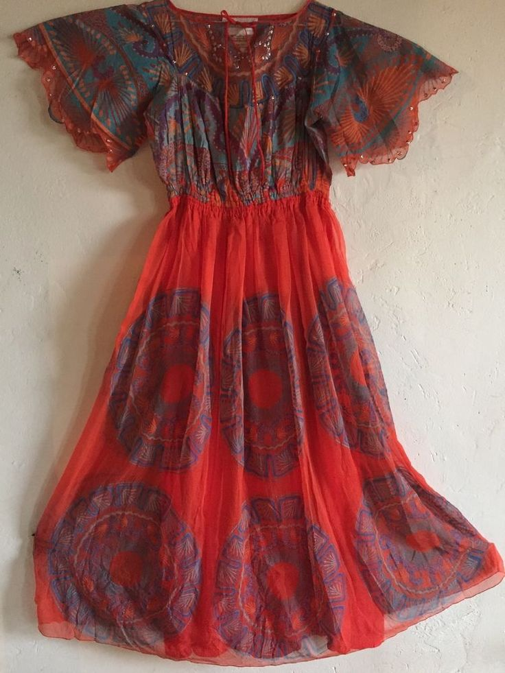 Zandra Rhodes Mexican Gown