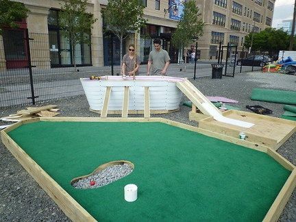 Mini Golf Fund Raiser For Jersey City Museum At Hamilton Square