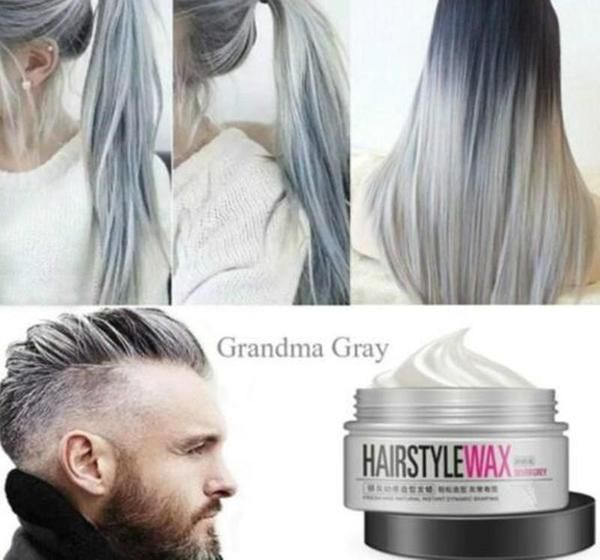 Hair Wax Styling Grey Hair Color Silver Brown Ombre Hair Color Grey Hair Color Dye