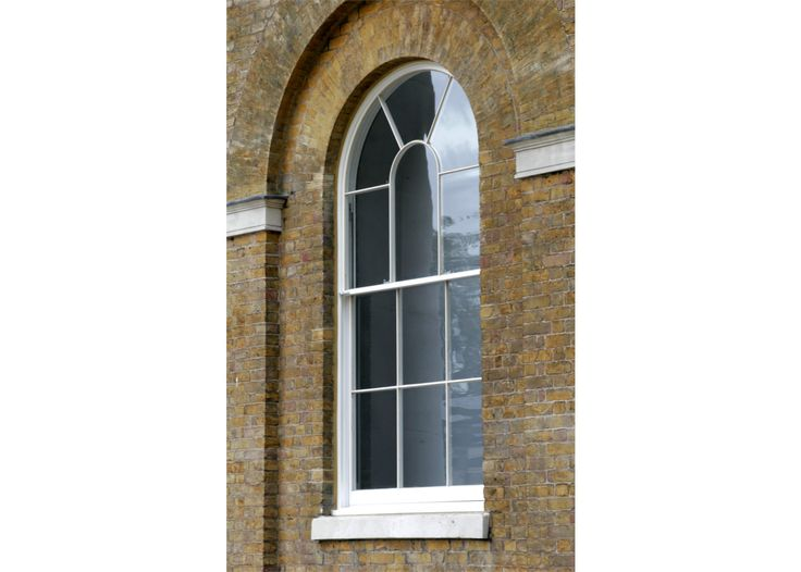 Traditional, round-headed sliding sash from Wood Window Alliance member, Mumford & Wood