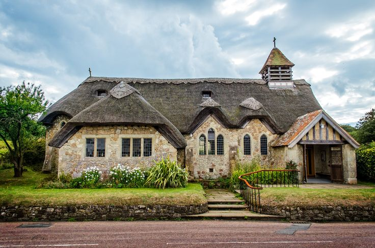 Thatched Church St Agnes, the only thatched church on the Isle of Wight.