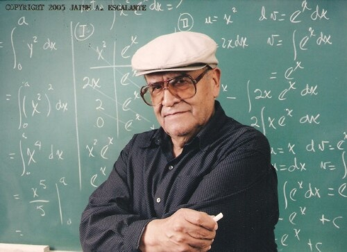 "Great Teachers: Jaime Escalante spent 15 years teaching algebra and calculus at Garfield High School in East Los Angeles. His efforts were later made in to the inspiring film ""Stand and Deliver."""