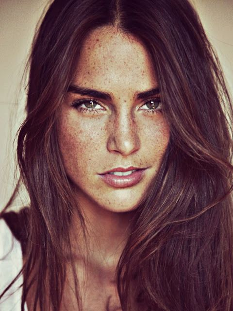 Cecilie Haugaard Can i please have freckles like this????
