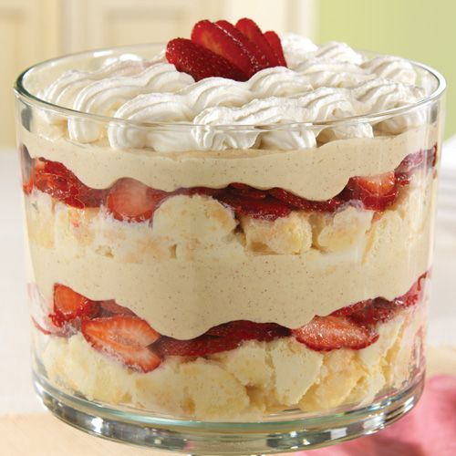 Strawberry-Coconut Tres Leches Trifle - The Pampered Chef® This is my FAVORITE Pampered Chef Trifle Recipe!!!!