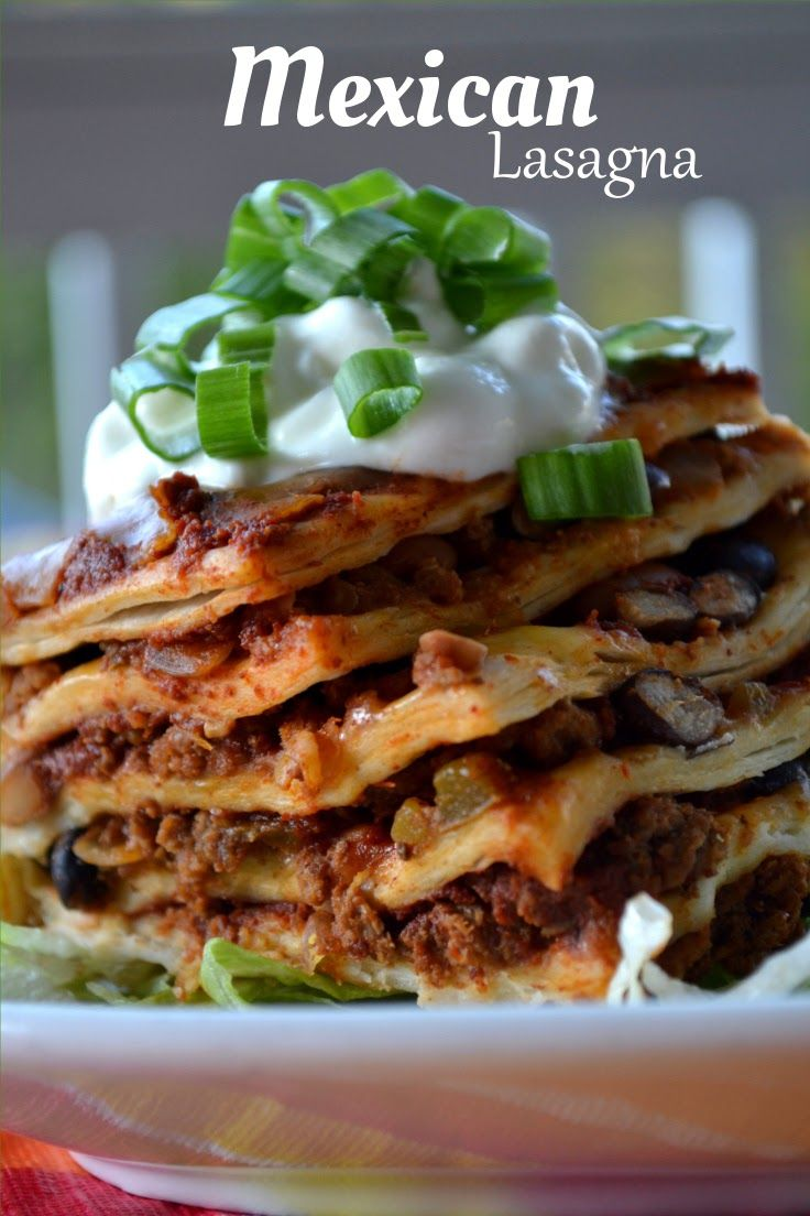 Crock Pot Mexican Tortilla Lasagna Recipe — Dishmaps