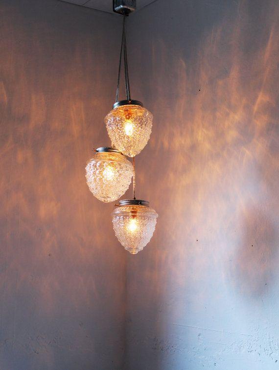Etsy $100: Glass Chandelier, Pendant Lighting, Lamp Design, Cascading Autumn, Lighting Fixture, Hanging Pendants, Acorns Crystal, Autumns Acorns, Bootsngus Lamp