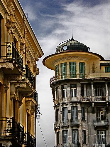I enjoy my daily coffee under this very building!!! (Historic Center, Thessaloniki by Petros Andronakis)