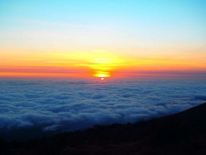 Running For The Gate blogger Brande looks back at Day 3 of the Rongai Route up and over Mount Kilimanjaro (photo of the sunrise at Kikilewa Camp)