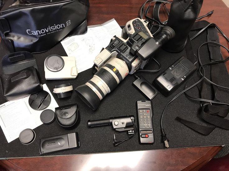 Canon L1 Hi 8 Camcorder Canovision 8mm With Several Accessories Video Camera