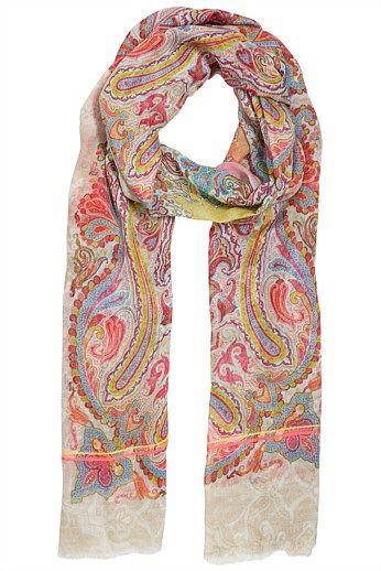 Ashanti Paisley Scarf - Designer Women's Clothes Online