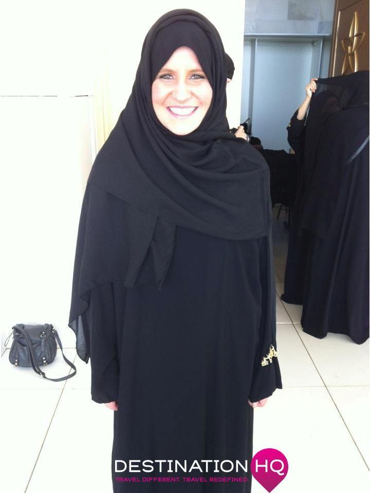 Mel in a Burqa
