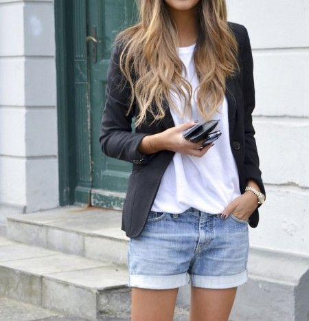 blazer + shorts (that don't look like underwear)