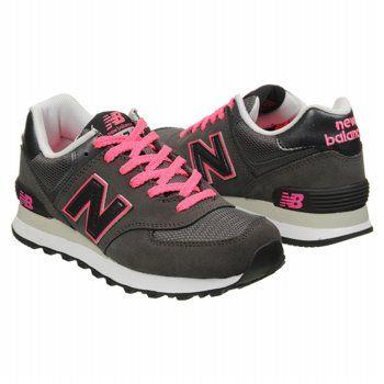 Athletics New Balance Women\u0027s The 574 Grey/Pink Shoes