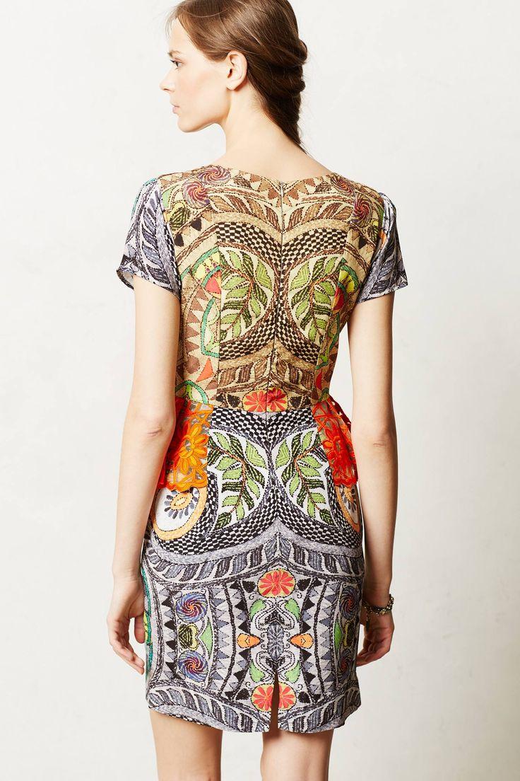 sunchart peplum dress - anthropologie.com