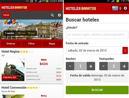 Hoteles Baratos app Android