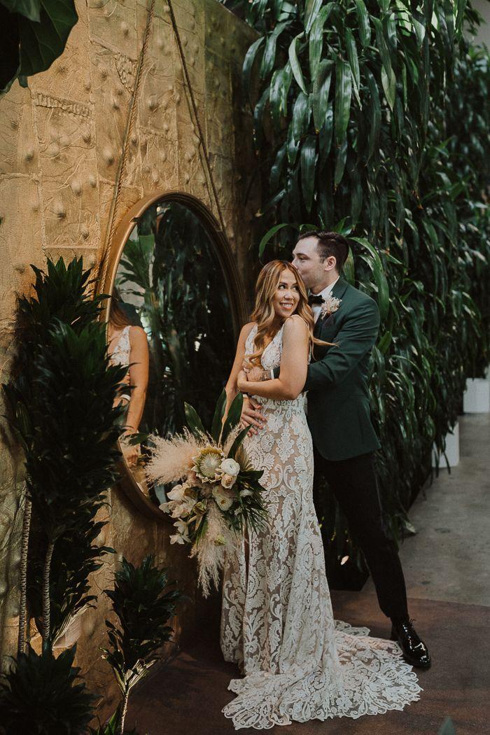 Tropical Industrial Millwick Wedding Junebug Weddings In 2020