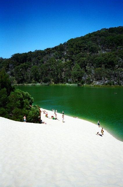 the beautiful emerald Lake Wabby