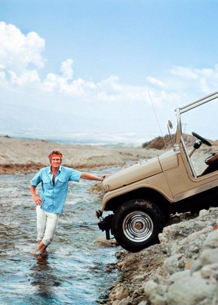 Steve McQueen fotografiado por Milton Greene, 1969
