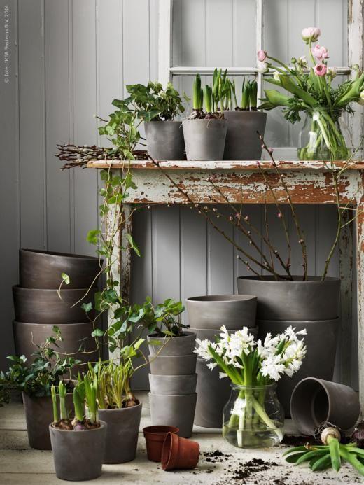 Planteringstider! MANDEL krukor finns i storlekarna 10.5, 12, 14, 17, 21, 24 och 32 cm.