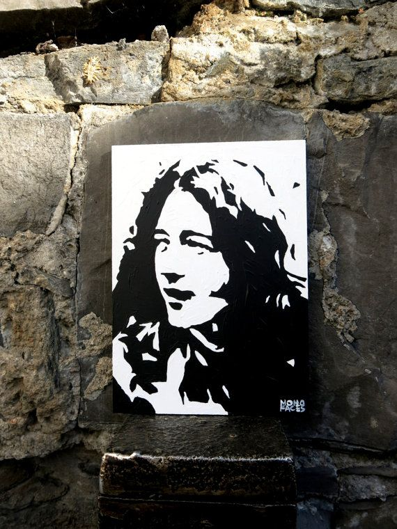 Hand painted acrylic piece of art of Rory Galagher. by MONOFACES, €14.00