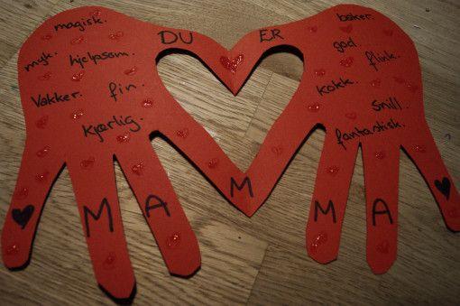 Morsdagskort - En hjertelig hilsen | Idebank for småbarnsforeldreIdebank for småbarnsforeldre
