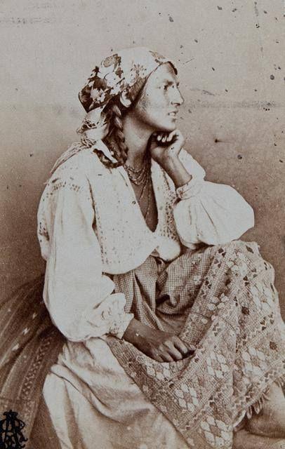 Gypsy, 1860, by Carol Popp de Szathmary ( 11 January 1812, Cluj, Principality of Transylvania, Austrian Empire (now Romania) - d. 3 July 1887, Bucharest)