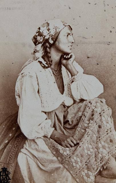Gypsy, 1860, by Carol Popp de Szathmary ( 11 January 1812, Cluj, Principality of Transylvania, Austrian Empire (now Romania) - d. 3 July 1887, Bucharest)
