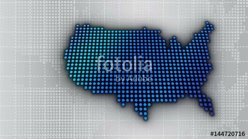 """USA Dot Tech Map over Background. 4K HD 1080 Motion Graphic"" Stock footage and royalty-free videos on Fotolia.com - Vid 144720716"