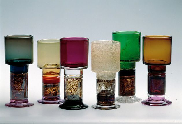Franck's unique glass – and the challenging techniques used to produce it. Franck was a colourist and art glass gave him the opportunity to experiment with form and technique in a way that was impossible within the discipline imposed by mass production.