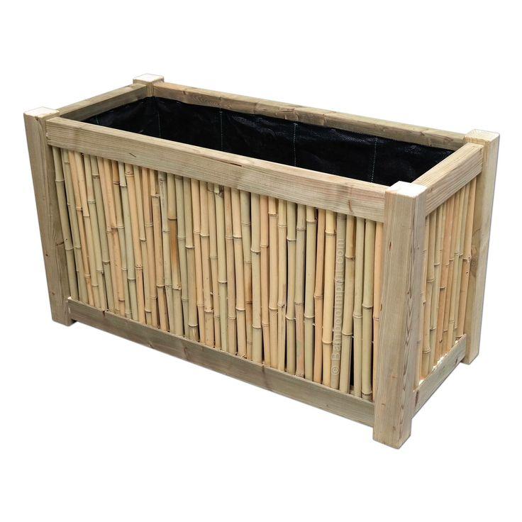 Image result for plantenbak voor bamboe