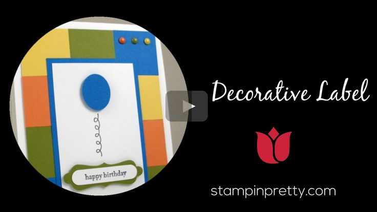 In this Stampin' Up! tutorial, I share how to crop the decorative label punch. Stampin' Up! tutorials, card ideas, paper crafting & stamping tips daily on my...