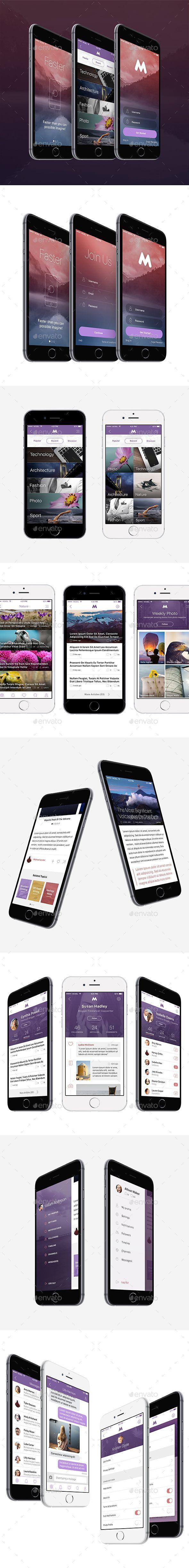 Megap - IOS 9 App User Interface Template PSD #design #ui Download: http://graphicriver.net/item/megap-ios-9-app-template/13787626?ref=ksioks