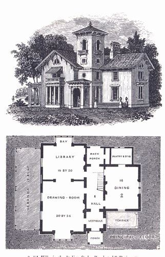 Historic Italianate House Plans New Andrew Jackson Downing Italian Style In The Bracketed Mode Farmhouse Style House Plans Beach House Plans House Plans