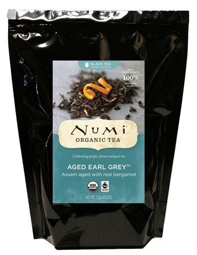 Numi Organic Tea Aged Earl Grey, Italian Bergamot Blended Black Tea, Loose Leaf, 16 Ounce Bulk Pouch ** Click image for more details.