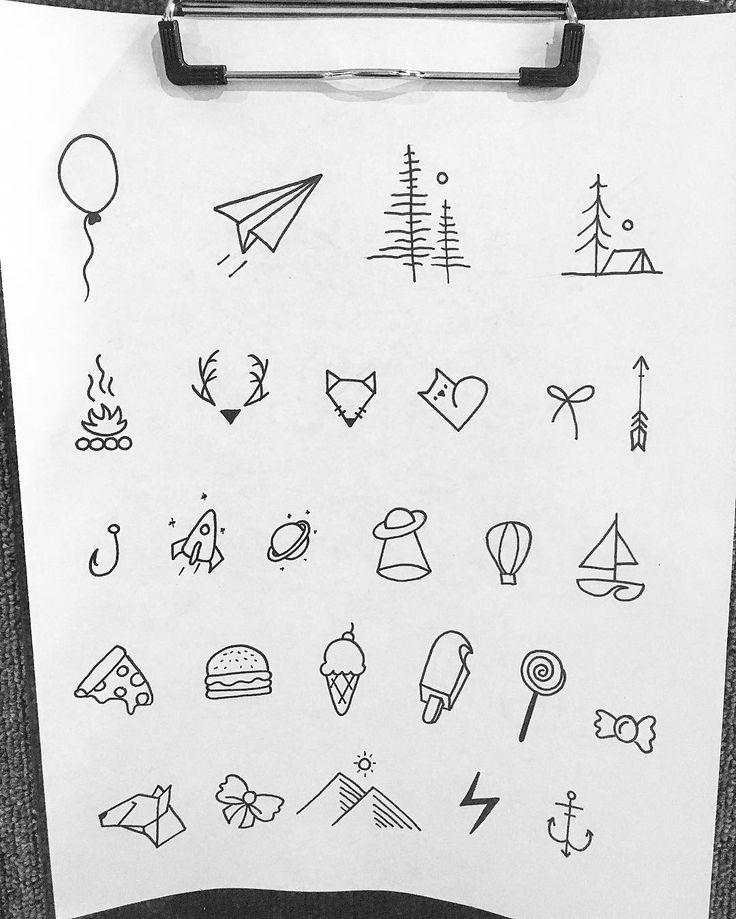 Мини рисунки ручкой
