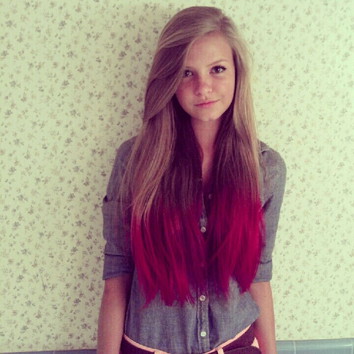 Dip Dyed Hair Cute Crystal Chou Gibson Hair