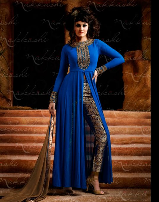 Blue Georgette Designer Anarkali Suit 57974