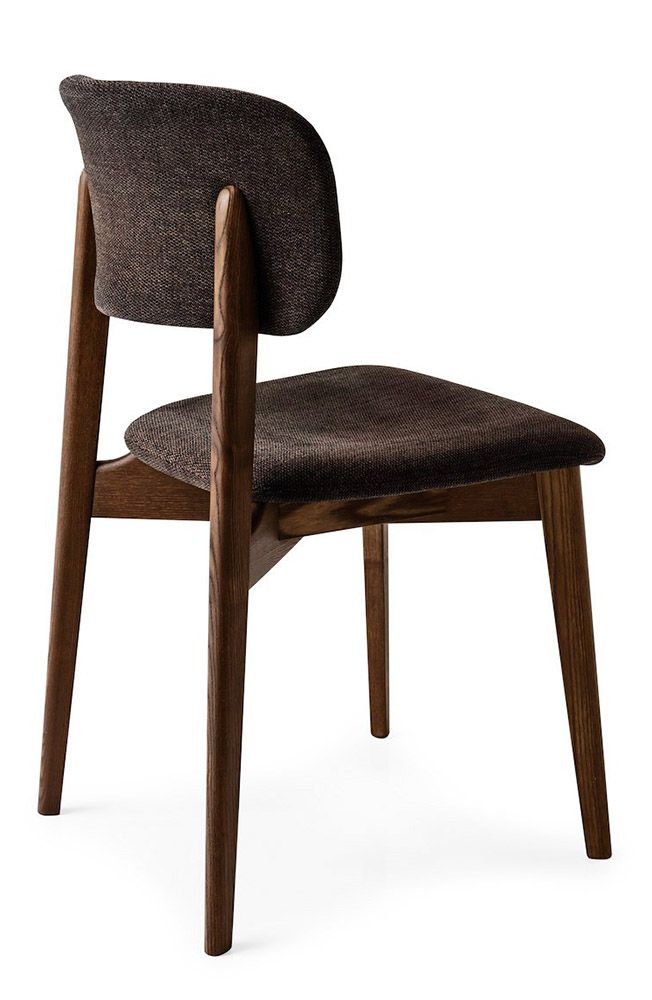 Calligaris | Stockholm Dining Chair | The slight curve in the back of the Stockholm ensures ultimate support and comfort | Available in different coloured Malmo fabric.
