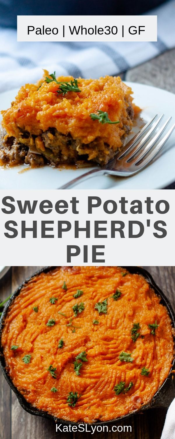Paleo Shepherd S Pie With Sweet Potato Topping Recipe In 2020 Healthy Pie Recipes Shepherds Pie Sweet Potato Toppings
