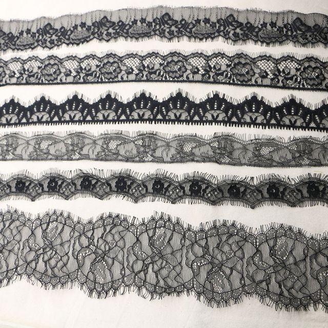 9 ярды / много ресниц DIY 4 - 5.5 см украшением высокое качество черное кружево свадьба ткань случайных доставки