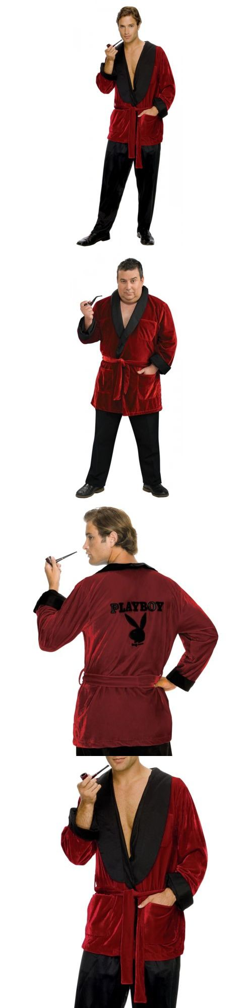 Halloween Costumes Men: Hugh Hefner Costume Adult Smoking Jacket Playboy Halloween Fancy Dress -> BUY IT NOW ONLY: $47.29 on eBay!