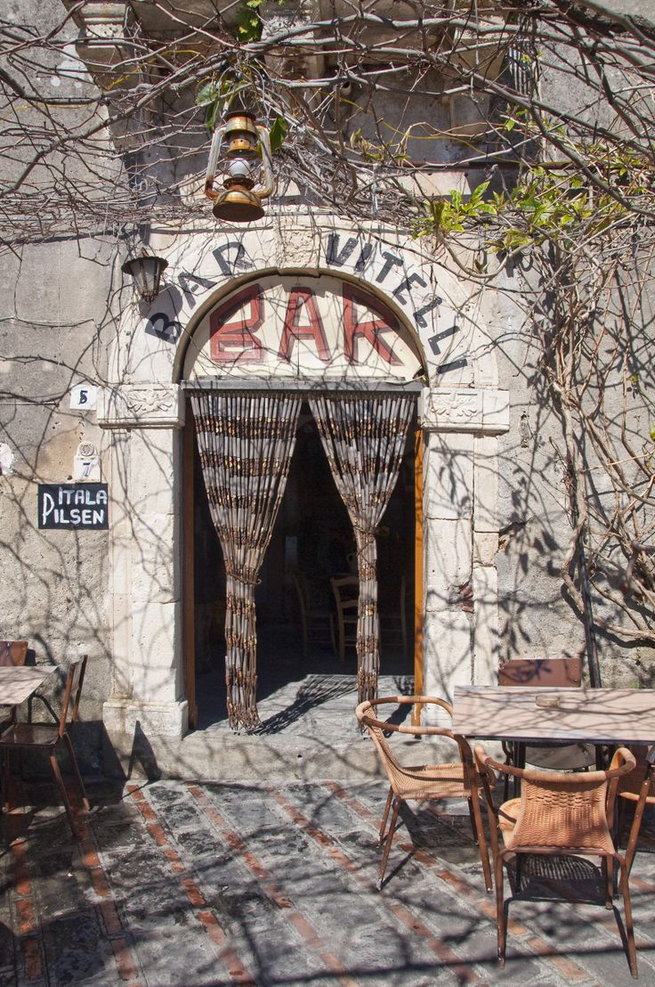 Bar Vitelli in Savoca, Sicily Location for the The Godfather.